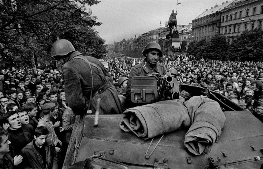 CZECHOSLOVAKIA. Prague. August 1968. Warsaw Pact troops invade Prague.