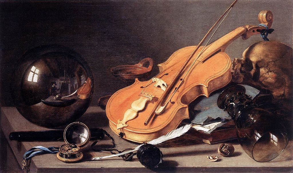 1024px-Pieter_Claesz._-_Vanitas_with_Violin_and_Glass_Ball_-_WGA04974